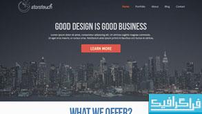 قالب پی اس دی سایت با طراحی تخت - Flat