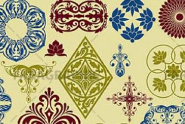 وکتور های عناصر طراحی – گلدار