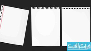 فایل لایه باز برگه دفترچه یادداشت