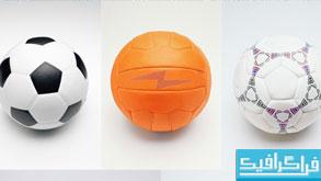دانلود تصاویر استوک توپ های ورزشی