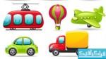 دانلود آیکون های وسایل حمل و نقل - کارتونی