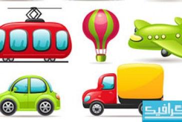 دانلود آیکون های وسایل حمل و نقل – کارتونی
