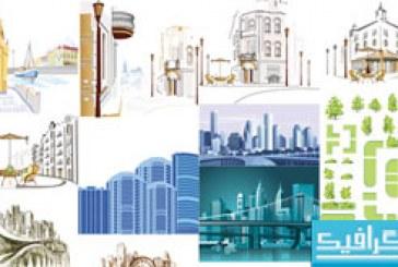 وکتور ساختمان های مناطق شهری – شماره 2