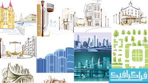 وکتور ساختمان های مناطق شهری - شماره 2