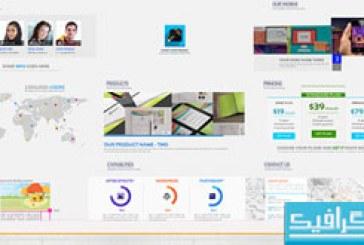 پروژه افتر افکت معرفی وب سایت شرکتی