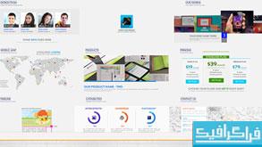 پروژه افتر افکت معرفی یک وب سایت شرکتی