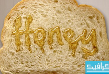 آموزش فتوشاپ ساخت افکت متن عسلی