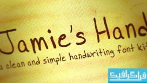 دانلود فونت انگلیسی Jamie's Hand