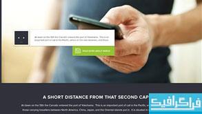 قالب پی اس دی سایت شرکتی - تک صفحه ای