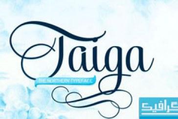 دانلود فونت انگلیسی Taiga