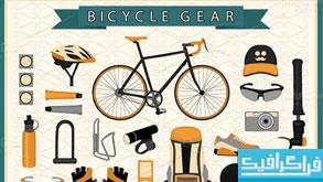 وکتور های وسایل دوچرخه