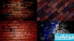 تکسچر های دیوار آجری با رنگ قرمز