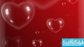 دانلود براش فتوشاپ حباب قلب عاشقانه
