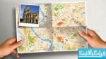 فایل لایه باز نقشه در دست - ماک آپ
