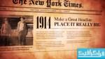 دانلود پروژه افتر افکت روزنامه قدیمی