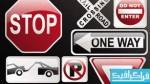 وکتور تابلو های راهنمایی و رانندگی