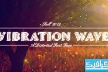 فونت انگلیسی Vibration Wave