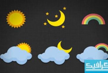 دانلود آیکون های تخت آب و هوا