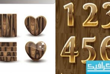 وکتور های علامت و اعداد چوبی