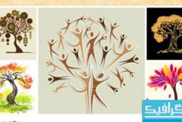 وکتور درخت های هنری