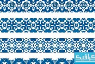 دانلود وکتور پترن های آبی رنگ