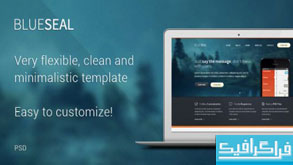 دانلود قالب PSD سایت شخصی و شرکتی - Blueseal
