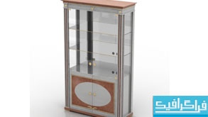 دانلود مدل سه بعدی قفسه شیشه ای