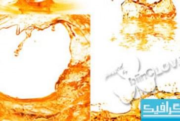 دانلود تصاویر استوک پاشیده شدن شربت پرتقال