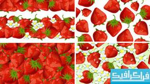 وکتور های پس زمینه توت فرنگی