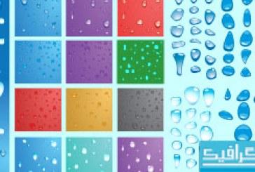 دانلود وکتور قطرات آب