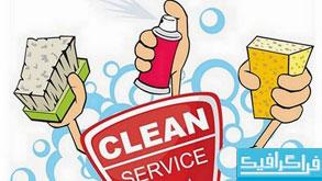 دانلود وکتور های کارواش و نظافت