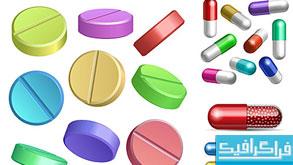 دانلود وکتور های دارو - قرص - کپسول