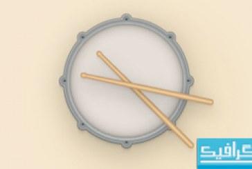 آموزش ایلوستریتور ساخت وکتور آیکون طبل