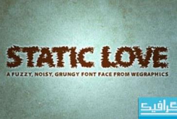دانلود فونت انگلیسی Static Love