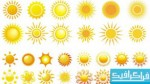 دانلود وکتور های خورشید