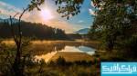 دانلود والپیپر طلوع خورشید در اتریش