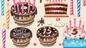 دانلود وکتور های کیک تولد