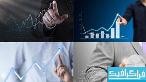 دانلود تصاویر استوک نمودار های تجاری