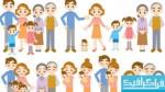 دانلود وکتور های افراد خانواده