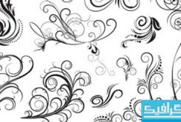 دانلود وکتور های طرح گلدار تزئینی – شماره 2