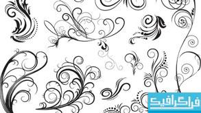 دانلود وکتور های طرح گلدار تزئینی - شماره 2