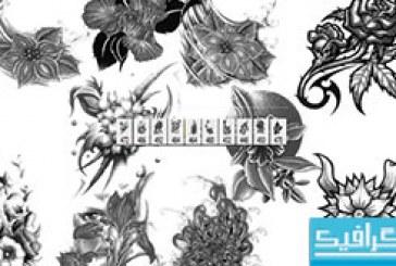 دانلود براش های فتوشاپ گل – طرح خالکوبی
