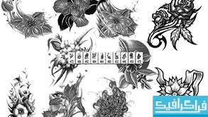 دانلود براش های فتوشاپ گل - طرح خالکوبی
