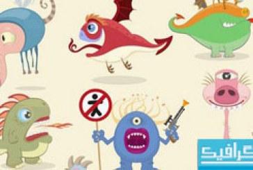 دانلود وکتور هیولا های خنده دار