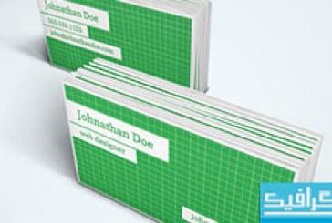 دانلود کارت ویزیت با خطوط شبکه ای