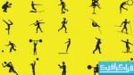 دانلود وکتور آدمک های ورزشکار