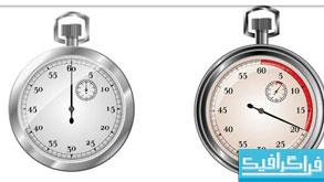 دانلود وکتور های زمان سنج و کرونومتر