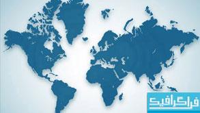 دانلود وکتور های نقشه جهان
