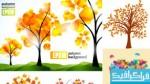 دانلود وکتور های درختان پاییزی