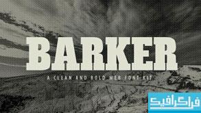 دانلود فونت انگلیسی ضخیم Barker